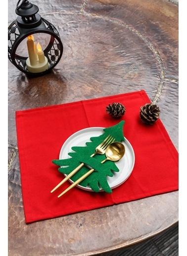 Arma House 6 Adet Çam Ağacı Kaşıklık & Servis Sunum Yeşil